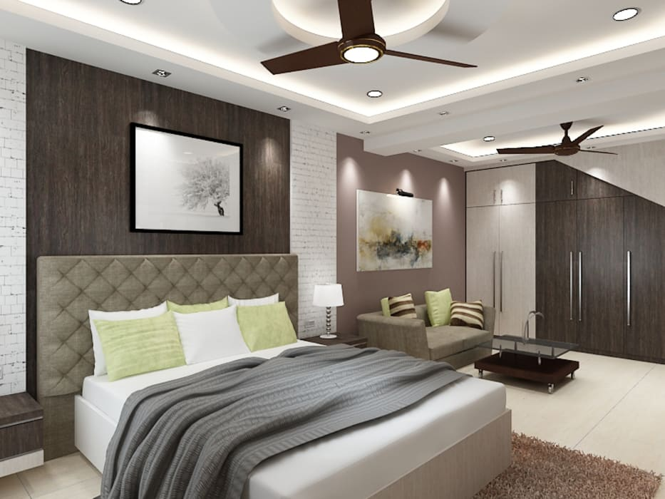 Master Bedroom with a Seating Area Concept Modern style bedroom by Kphomes Modern