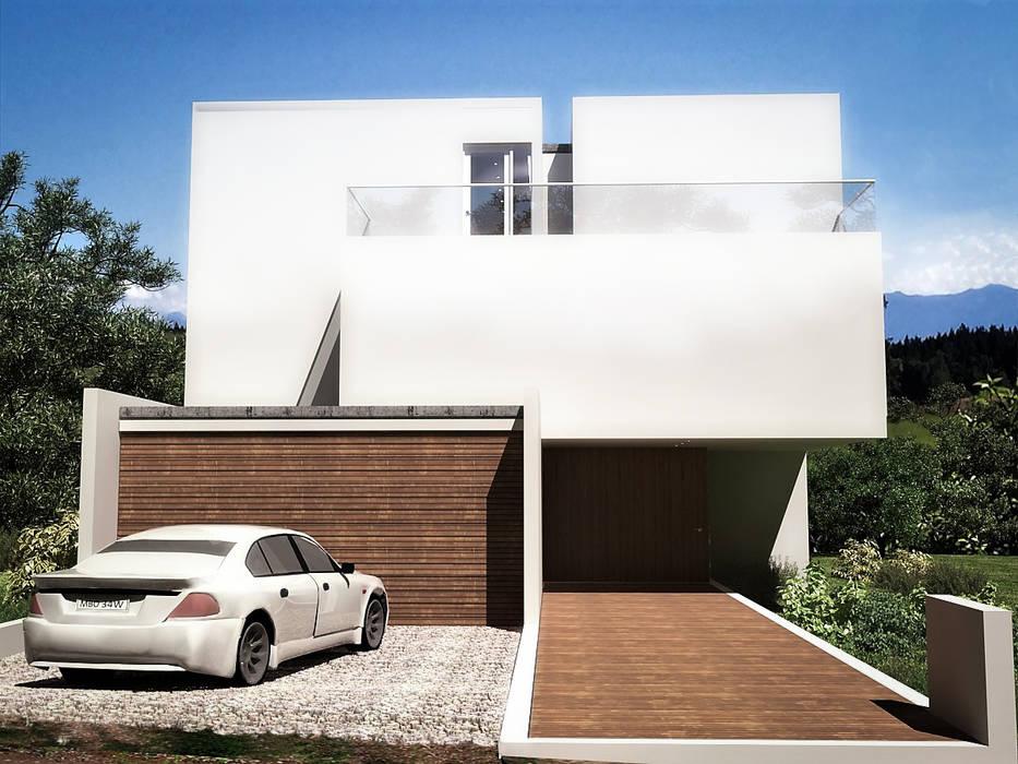 : Casas unifamiliares de estilo  por RRA Arquitectura, Minimalista Madera Acabado en madera