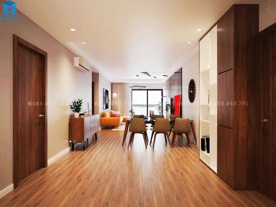 Thiết kế nội thất căn hộ cao cấp ECO GREEN SAI GON - 97m2 - 3 phòng ngủ bởi Công ty TNHH Nội Thất Mạnh Hệ Hiện đại Gỗ Wood effect