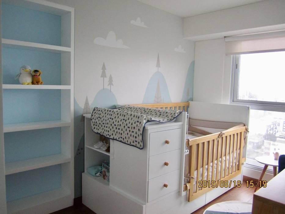 Proyecto entregado - Dormitorio de Bebé: Dormitorios infantiles de estilo  por NF Diseño de Interiores , Escandinavo