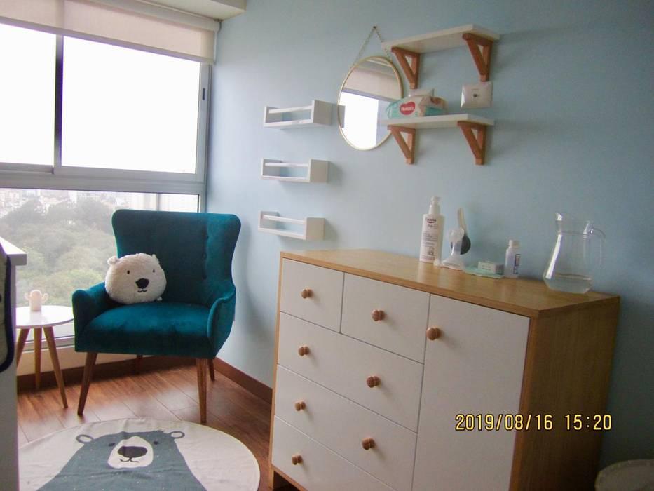 Proyecto entregado - Dormitorio de Bebé NF Diseño de Interiores Cuartos para bebés