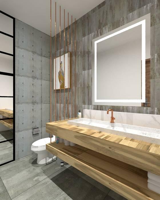 Baño de visitas Baños de estilo industrial de A.DESIGN Industrial
