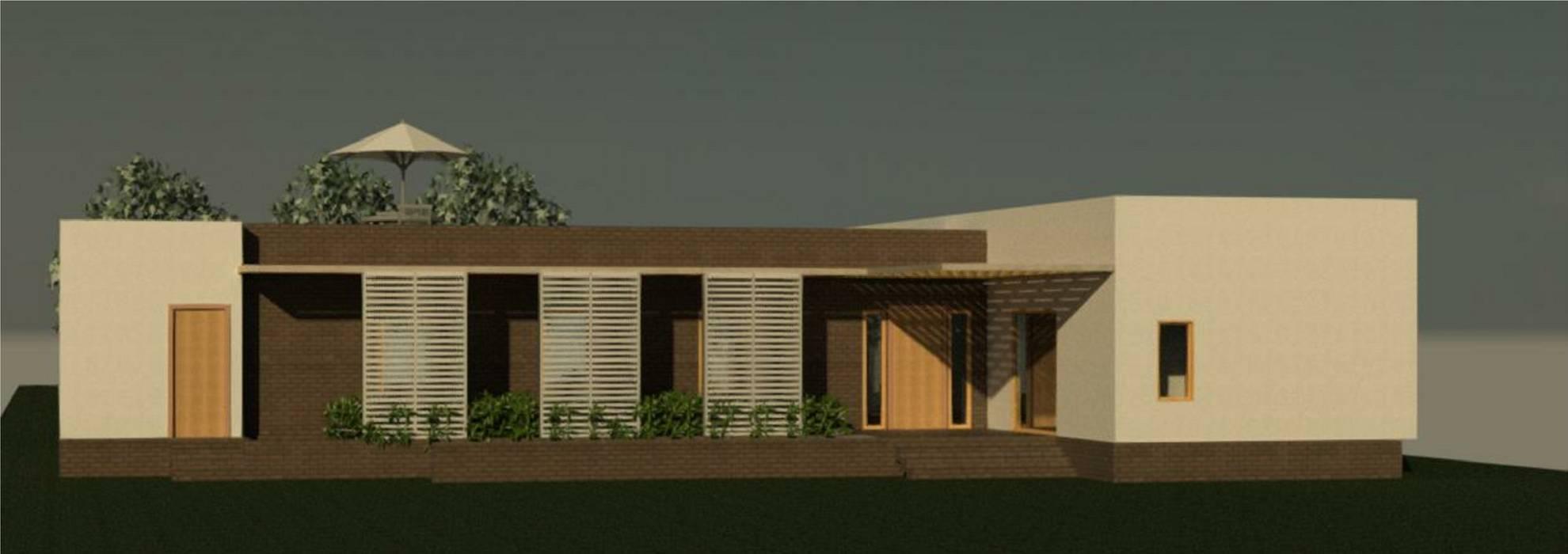 FACHADA PONIENTE Casas de estilo mediterráneo de Casas del Girasol- arquitecto Viña del mar Valparaiso Santiago Mediterráneo