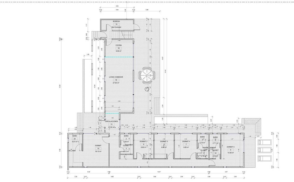 Planimetria del proyecto: Casas de estilo  por Casas del Girasol- arquitecto Viña del mar Valparaiso Santiago, Mediterráneo