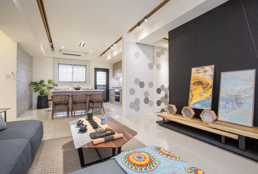 Ruang Keluarga Gaya Skandinavia Oleh 衍相室內裝修設計有限公司 Skandinavia