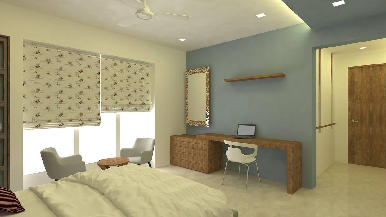 3bhk residence, Nahur Modern style bedroom by SPACE DESIGN STUDIOS Modern