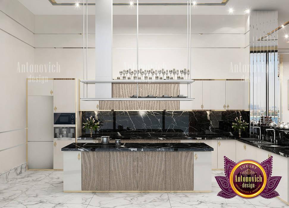 Black Marble for Kitchen Interior by Luxury Antonovich Design