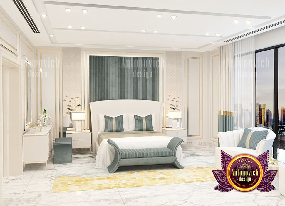 Magnificent Bedroom with Stunning Furniture Decor by Luxury Antonovich Design