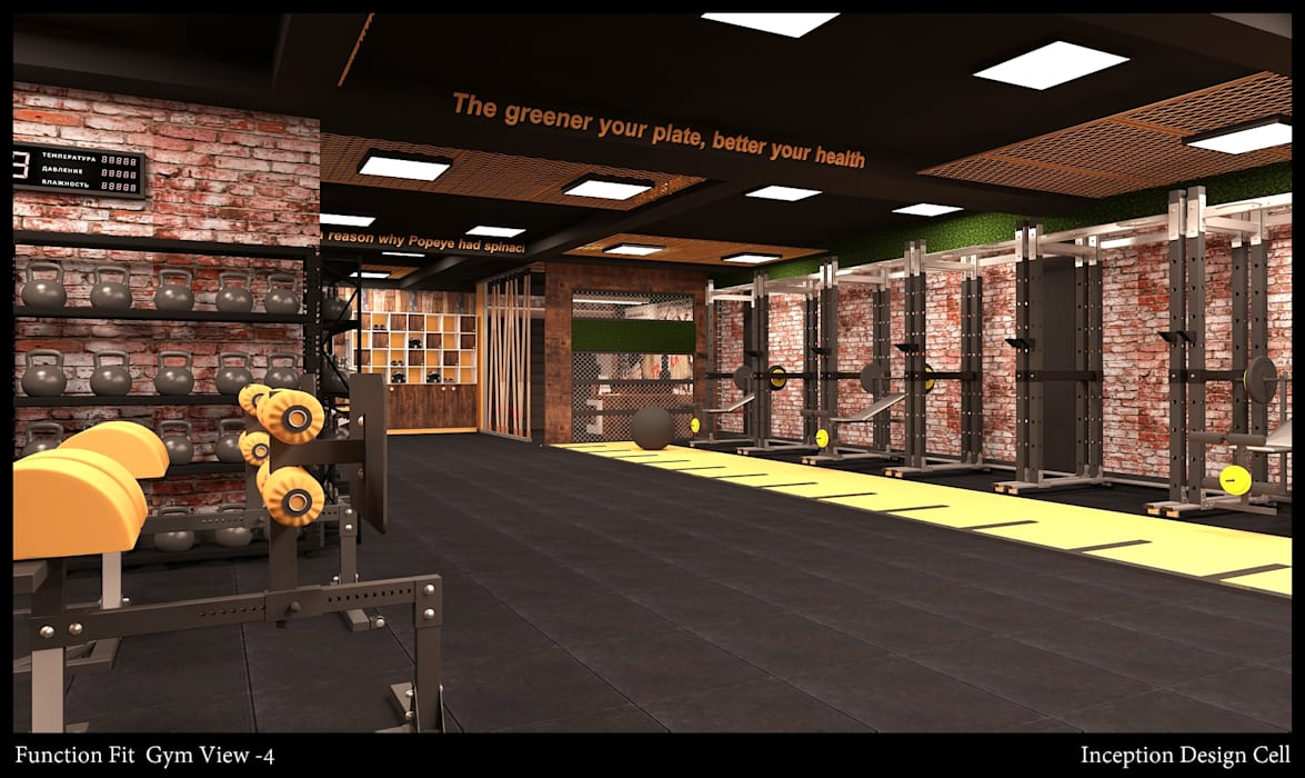 Function Fit (Gym) Rustic style gym by Inception Design Cell Rustic Wood Wood effect
