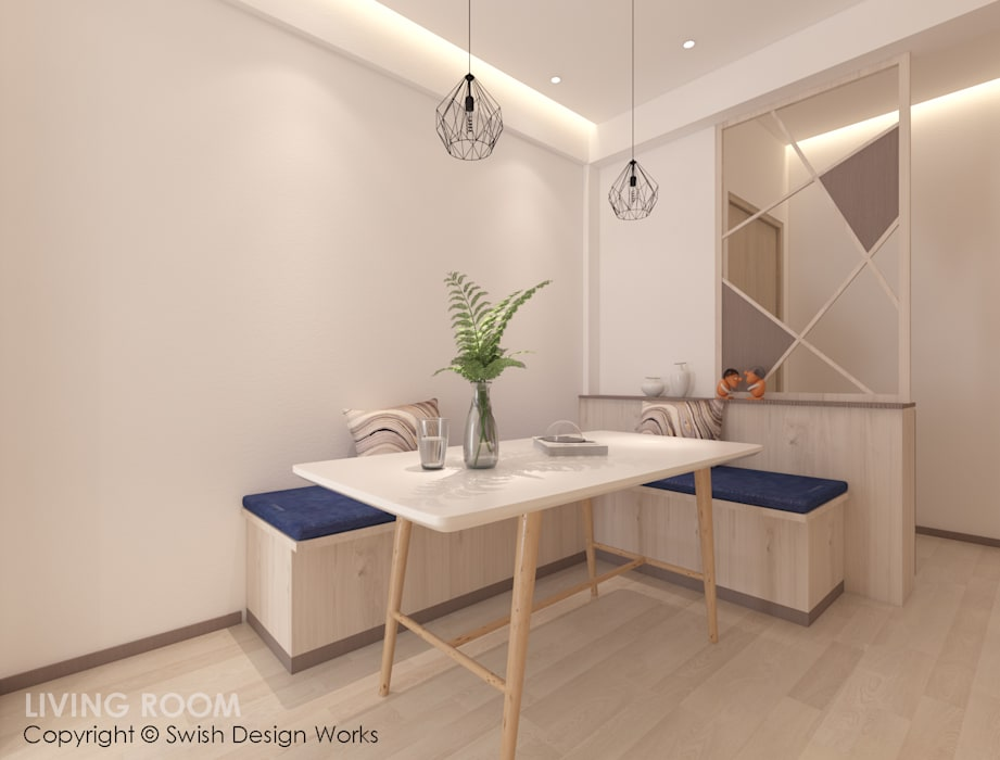Dining area Modern dining room by Swish Design Works Modern Plywood