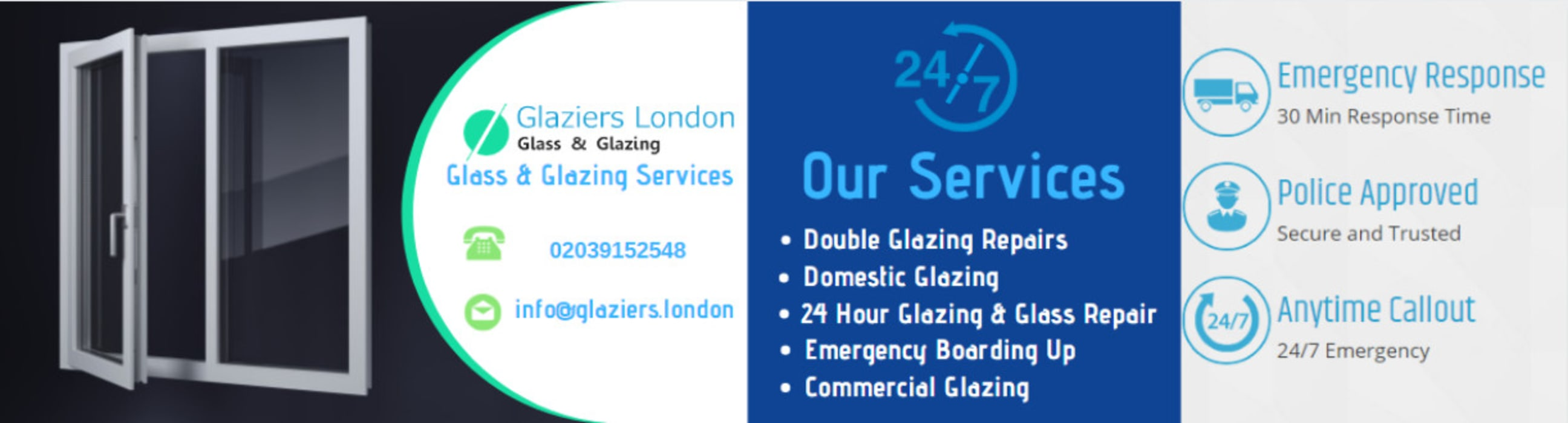 Glass Repair Services : emergency glazing by Glaziers London Country Glass