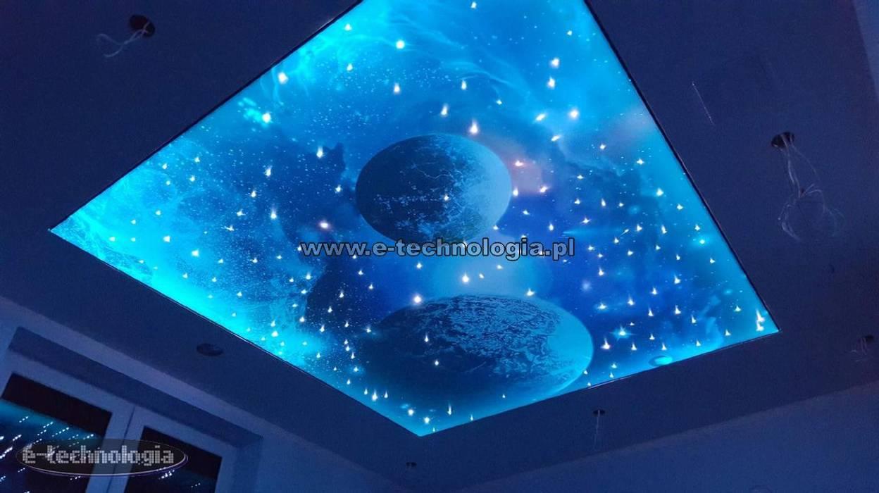 Sufit z gwieździstym niebem od E-Technologia Nowoczesny Guma