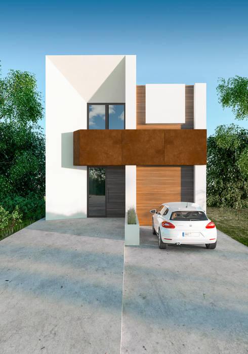 Fachada Casa Loto. Valencia de Barreres del Mundo Architects. Arquitectos e interioristas en Valencia. Minimalista