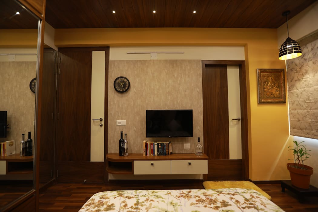 Sunita Sreeram house: modern  by Fluid Studio, Modern Wood Wood effect