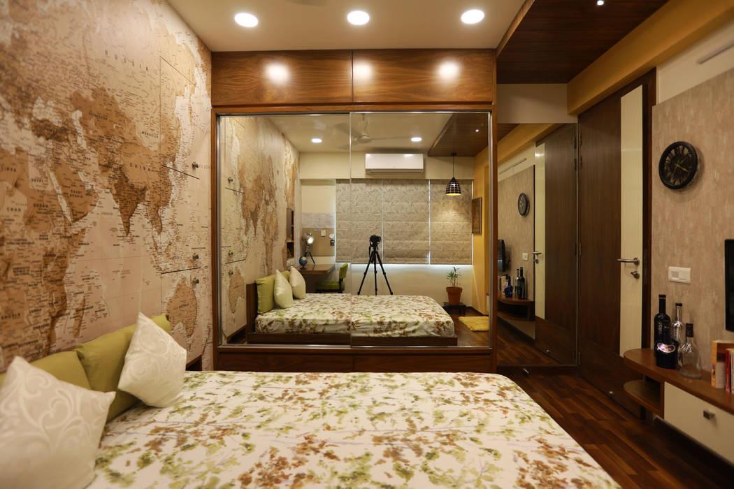 Sunita Sreeram house Modern Bedroom by Fluid Studio Modern Glass