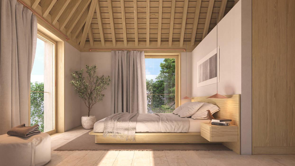 Dormitorio Dormitorios de estilo minimalista de NOEMA studio Minimalista Madera Acabado en madera