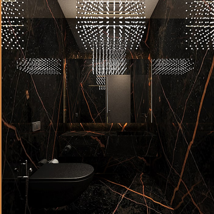Powder room Ashleys Modern bathroom Black