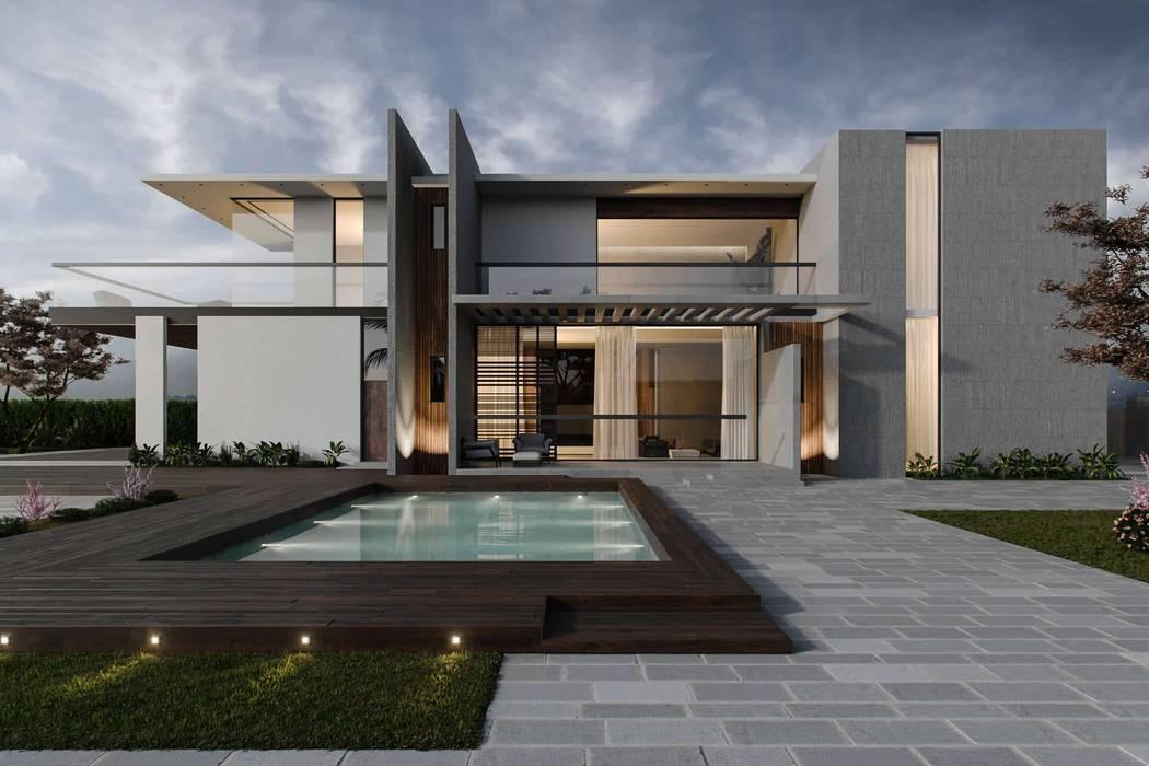Casas estilo moderno: ideas, arquitectura e imágenes de Edificaciones Arcon Moderno