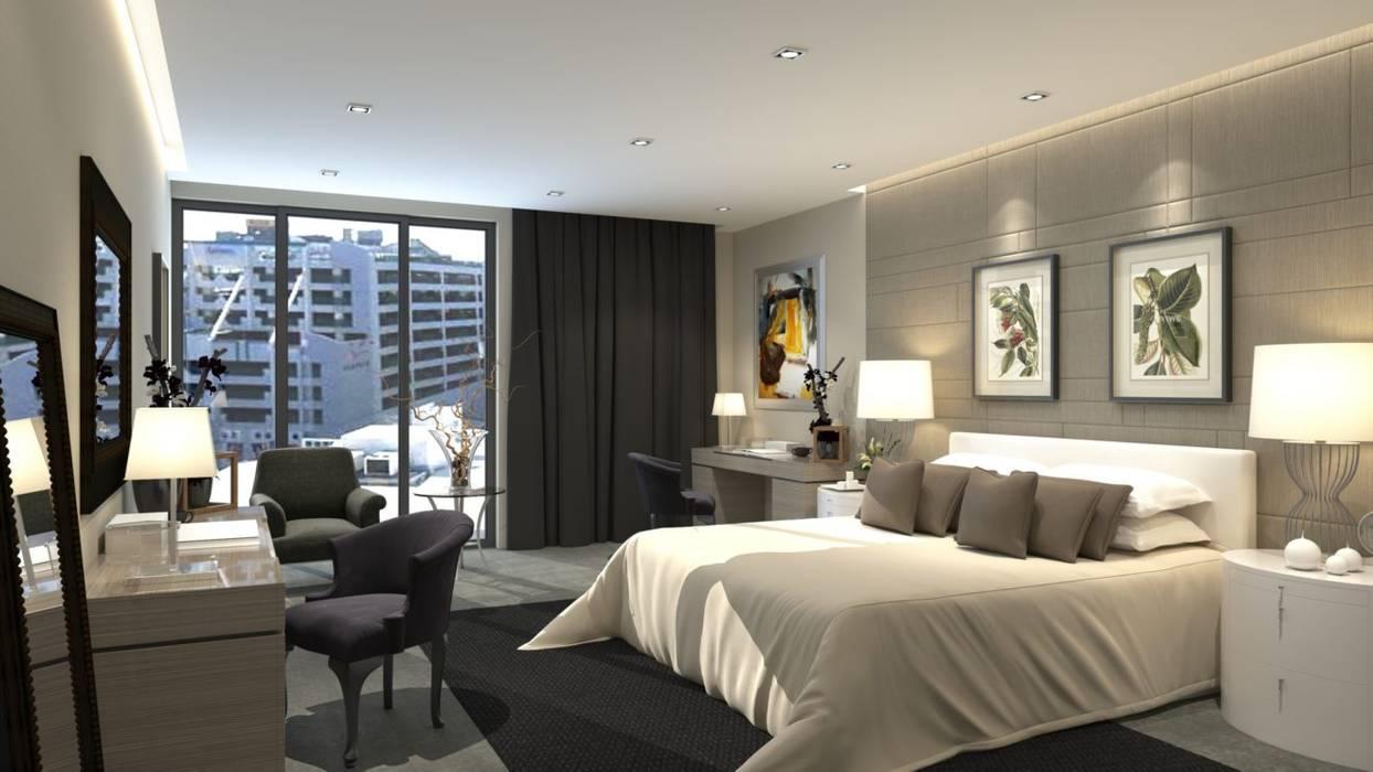 Proyectos Interiores Dormitorios modernos de Edificaciones Arcon Moderno