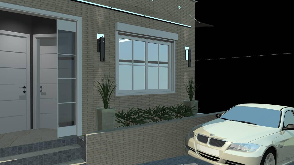 Vista jardim e Cobertura em Acrílico com Cabos de Aço Cromado!! Casas modernas por Arch Design Concept Moderno