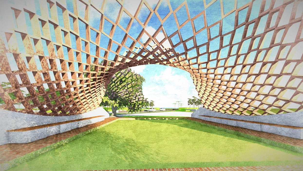 Sculpture Design for Elements:  Garden Pond by Kiasma Landscapes,Modern