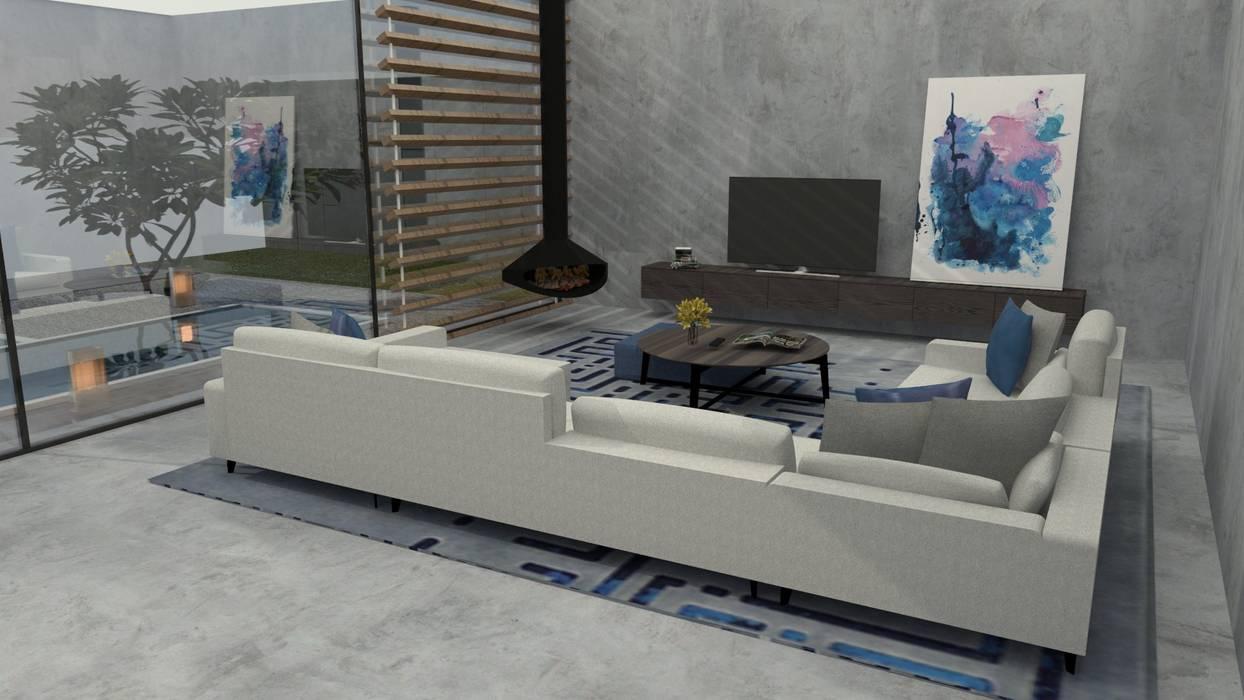 Quando o menos é mais... Salas de estar modernas por Casactiva Interiores Moderno
