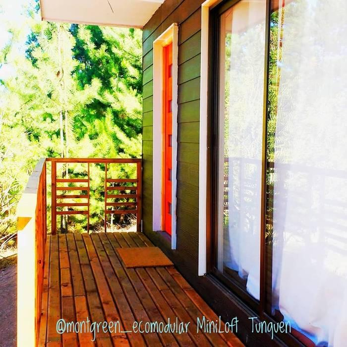 MiniLoft Tunquen Casas de estilo escandinavo de Montgreen Ecomodular Escandinavo