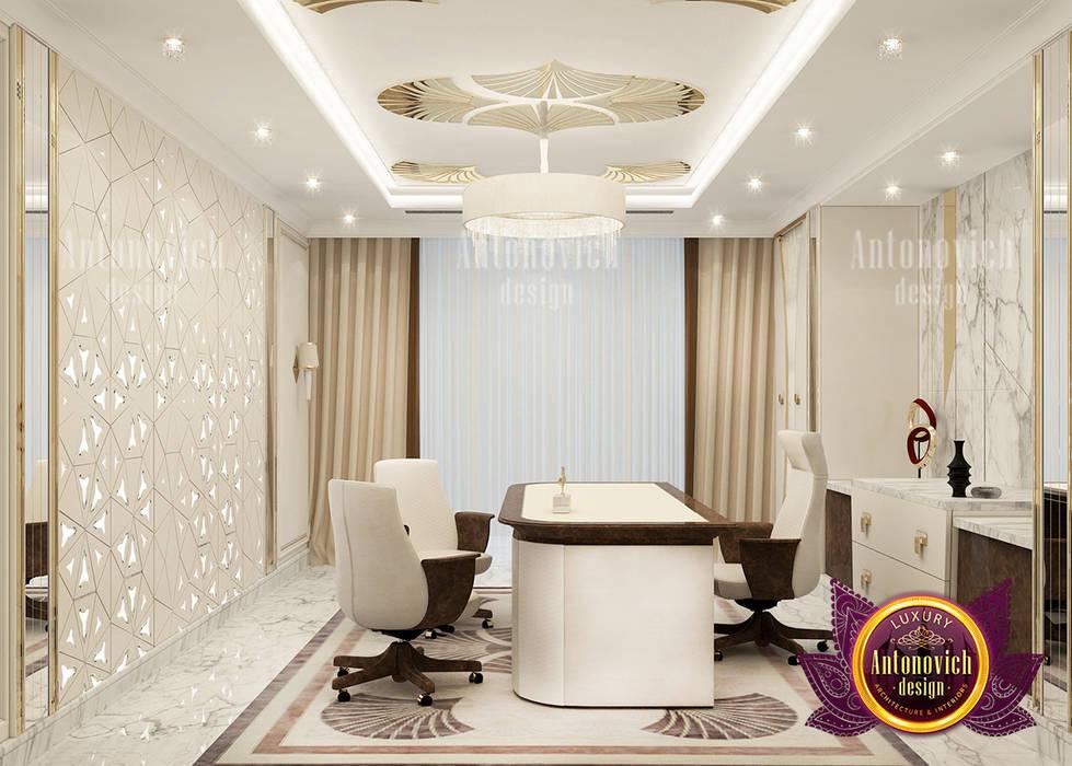 Extravagant Personal Home Office Design by Luxury Antonovich Design