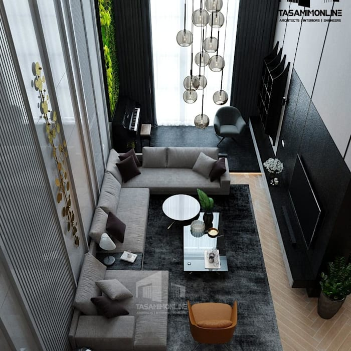 Family Living interior design Tasamim Online تصاميم أونلاين