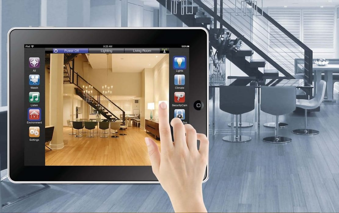 Smart Home or Home Automation with castle in cairo من كاسل للإستشارات الهندسية وأعمال الديكور والتشطيبات العامة حداثي حجر رملي