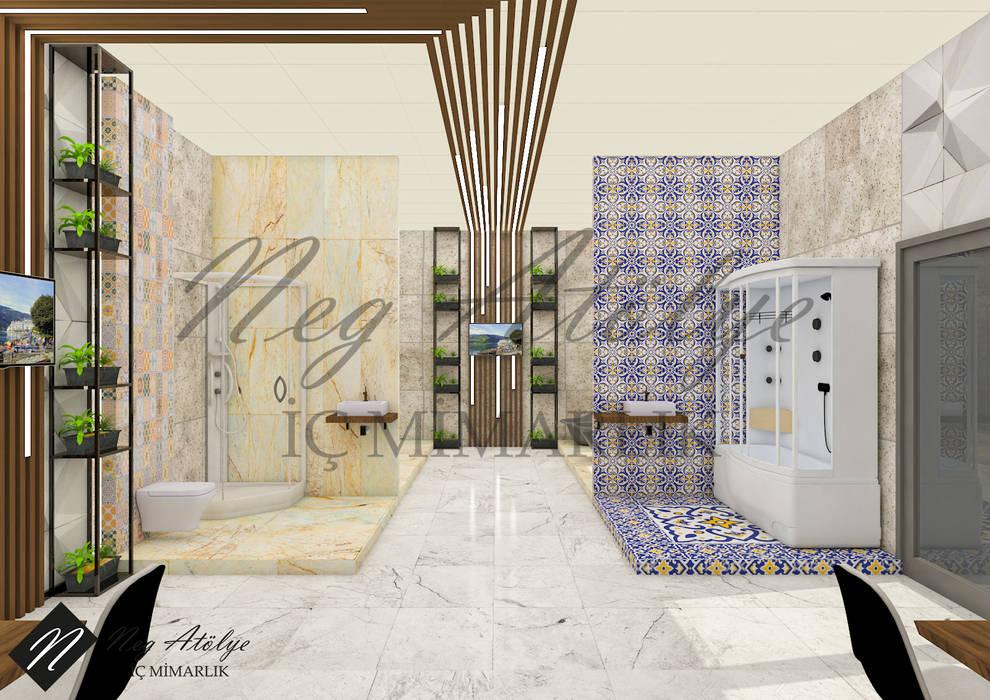 Modern bathroom by NEG ATÖLYE İÇ MİMARLIK Modern Marble