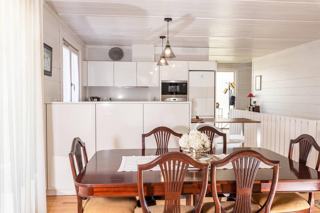 ห้องทานข้าว โดย Rusticasa, ทรอปิคอล ไม้ Wood effect