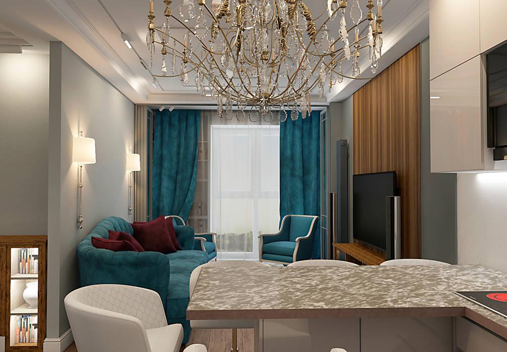 АМЕРИКАНСКАЯ КЛАССИКА DE LUXE (кухня-столовая) Столовая комната в классическом стиле от STUDIO DESIGN КРАСНЫЙ НОСОРОГ Классический