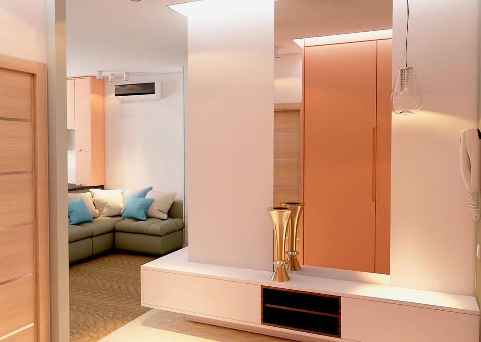 СТИЛЬНЫЙ МИНИМАЛИЗМ (гостиная, кухня-столовая) Гостиная в стиле минимализм от STUDIO DESIGN КРАСНЫЙ НОСОРОГ Минимализм