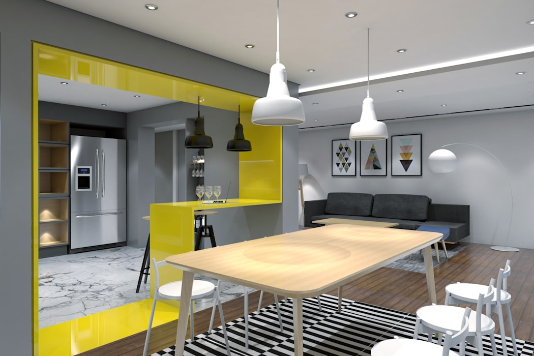 Dining space Minimalist dining room by ST-EM Architecture Minimalist