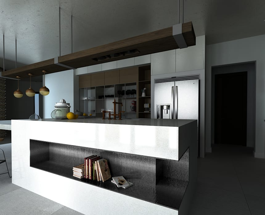 Isla cocina industrial de A.DESIGN Industrial