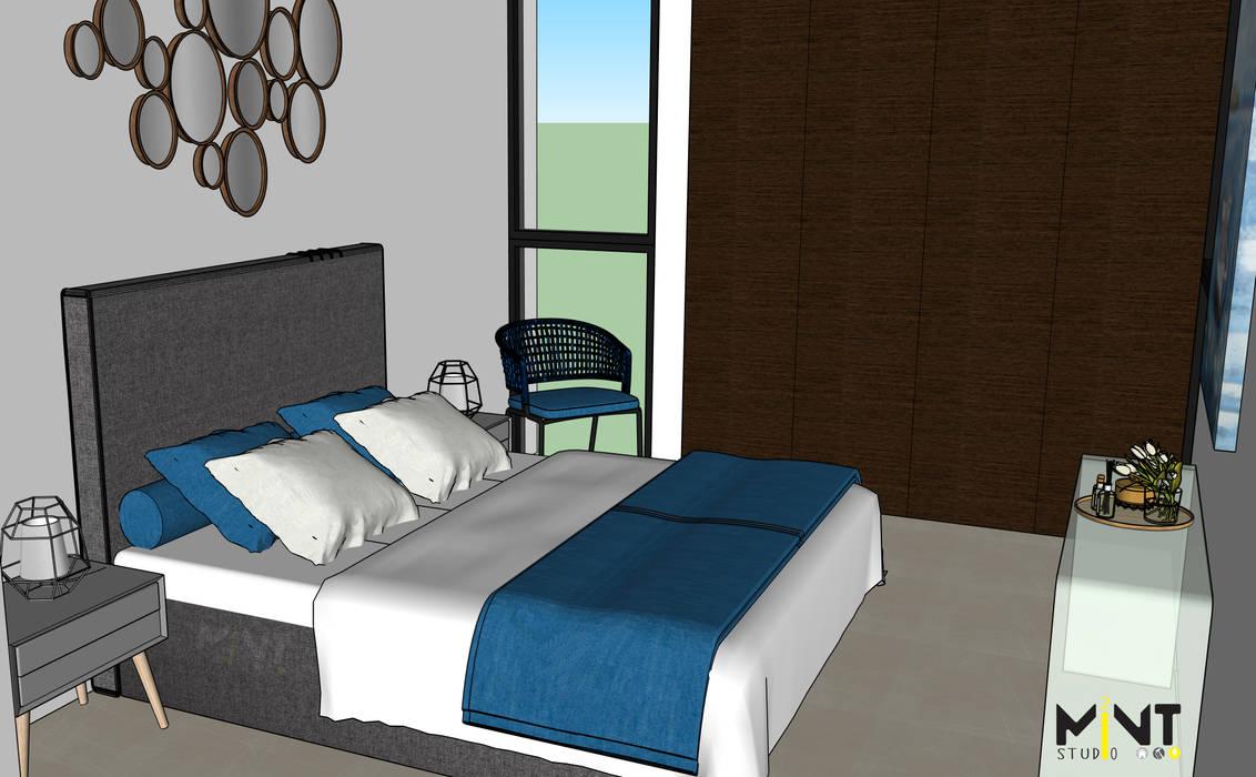 Kamar Tidur Gaya Mediteran Oleh 2 MINT STUDIO Mediteran