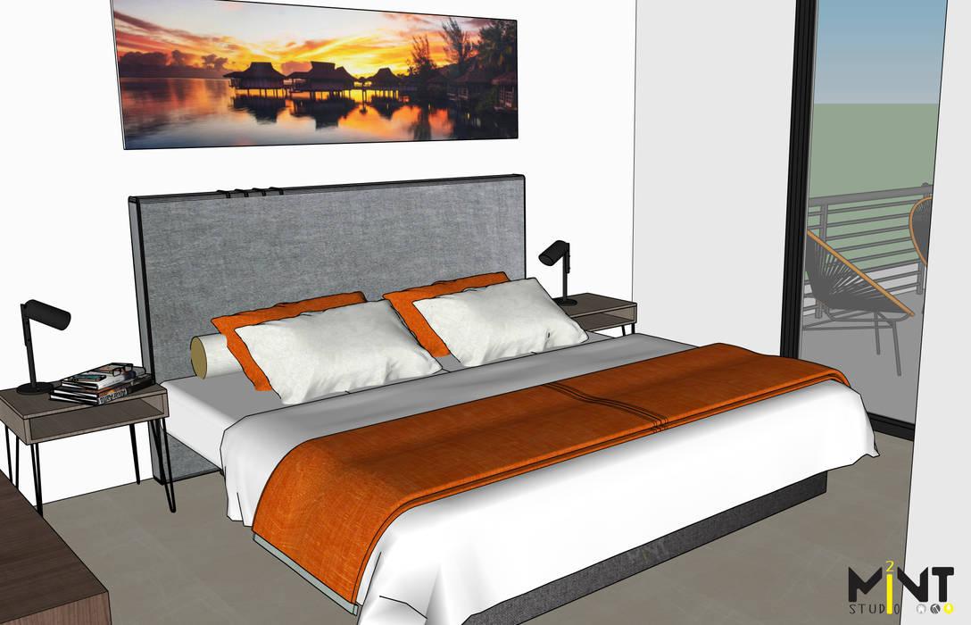2 MINT STUDIO Mediterranean style bedroom