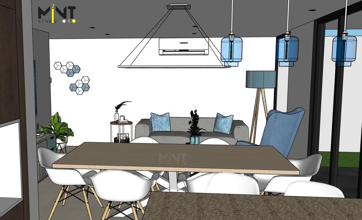 THULA PLAYA DEL CARMEN, QROO Mediterranean style dining room by 2 MINT STUDIO Mediterranean