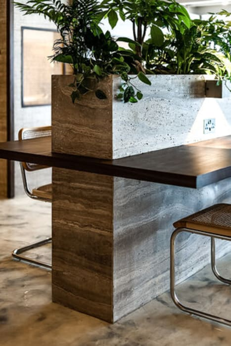 PLANTER Tropical style offices & stores by S.Lo Studio Tropical Stone