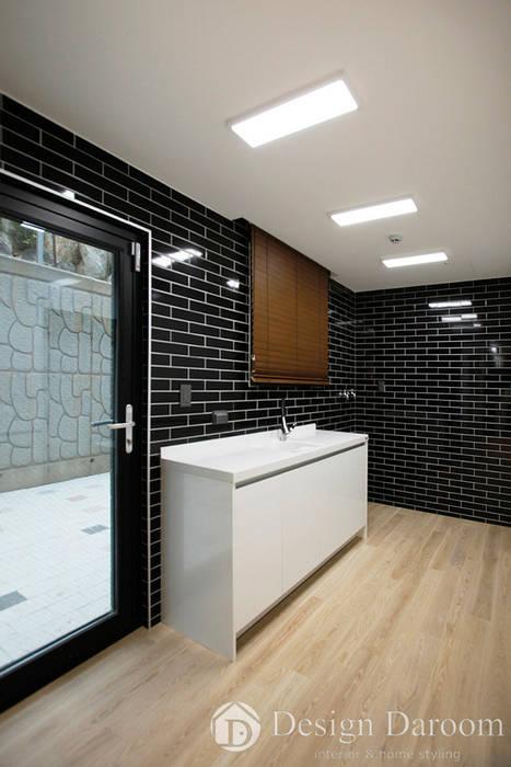 김포 전원주택 78py 1층 다용도실 모던스타일 주방 by Design Daroom 디자인다룸 모던