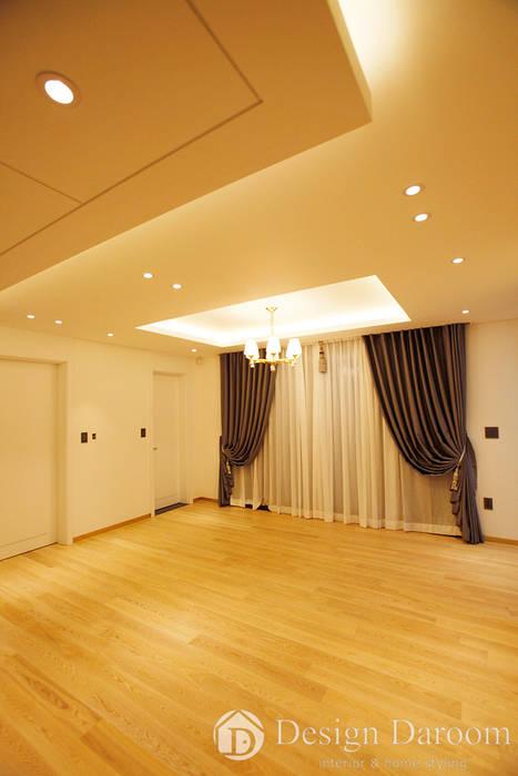 김포 전원주택 78py 2층 거실 모던스타일 거실 by Design Daroom 디자인다룸 모던