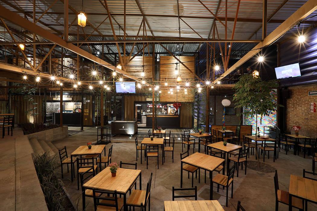 Diseño De Restaurante Balcones Y Terrazas Industriales De