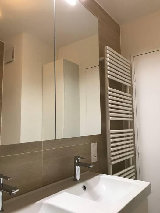 Appartement courbevoie salle de bain moderne par nuance d ...