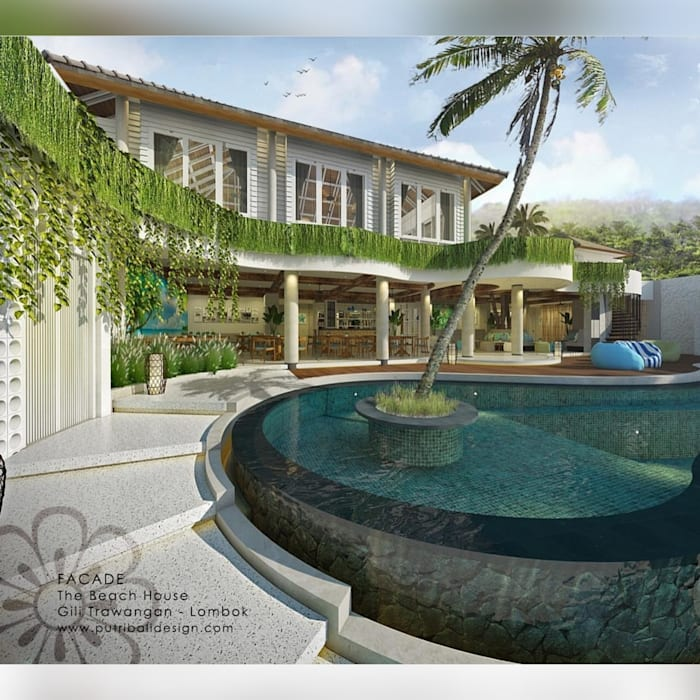 The Beach House Resort & Spa Hotel Tropis Oleh Putri Bali Design (PBD) Tropis Kayu Wood effect