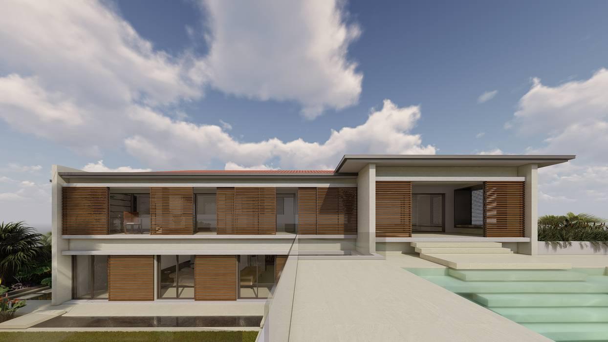 Proyecto de vivienda unifamiliar en el Puerto de la Cruz Casas de estilo moderno de CORREA + ESTEVEZ ARQUITECTURA Moderno