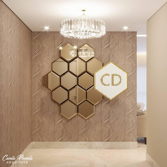 Camila Pimenta | Arquitetura + Interiores Espacios comerciales Vidrio Beige