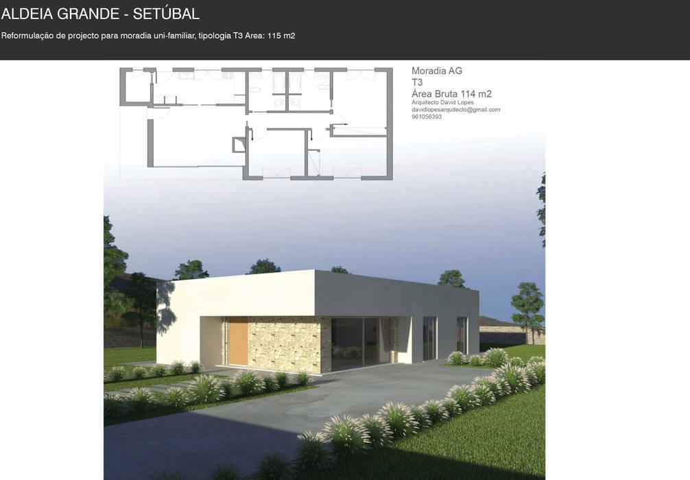 Casa de férias, Aldeia Grande Casas modernas por David Lopes Moderno