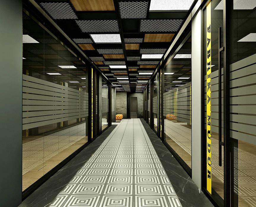 50GR Mimarlık – beylikdüzü_ofis tasarımı:  tarz Koridor ve Hol, Modern