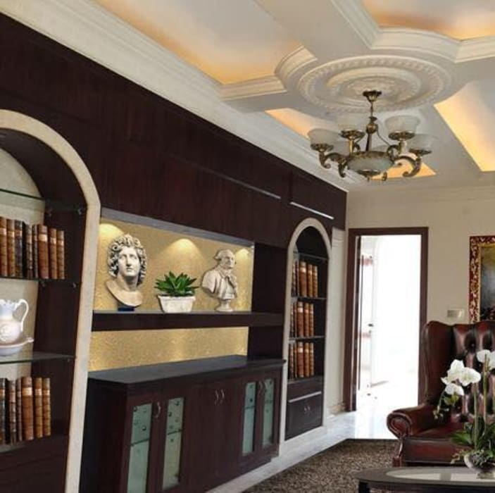 The Library & beautiful ceiling for that Vintage look by Phat Phorms Designs